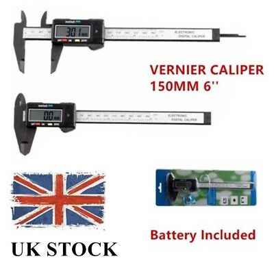 6'' 150mm LCD Digital Vernier Caliper Micrometer Measure Tool Gauge Ruler UK
