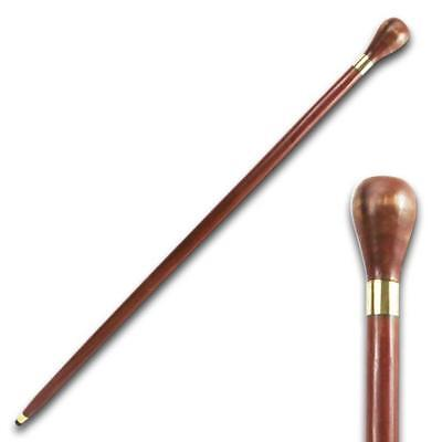 "Se 7067 36.5"" Knob Handle Eucalyptus Wood Walking Stick Cane"