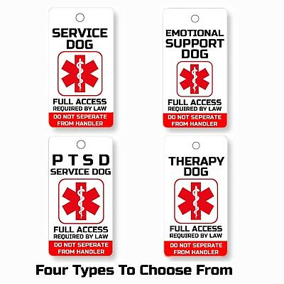 Service Esa Ptsd Therapy Dog Key Or Collar Tag For Ada & Fhact Service Animals