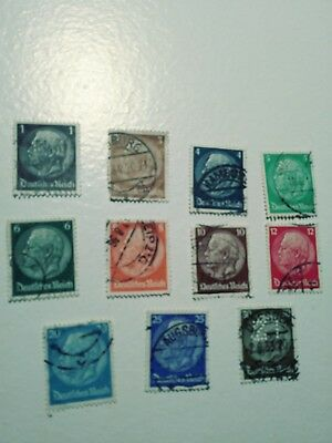 German WW2 Adolf Hitler postage stamps-set of 20-MNH,1941-1944,3rd Reich Germany