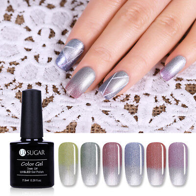 Thermal Ultra-thin Glitter Soak Off Gel Polish Color-changing Varnish UR SUGAR