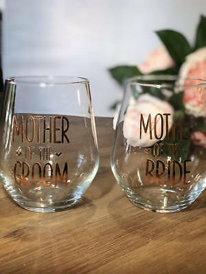 Parents of the Bride and Groom DIY glass decal stickers