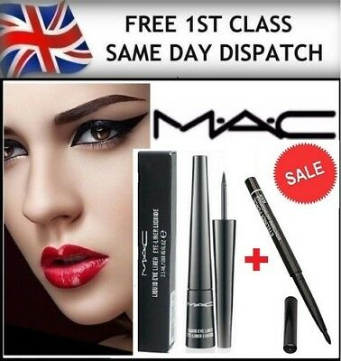 Mac Black Liquid Eyeliner + FOR FREE BLACK EYELINER PENCIL