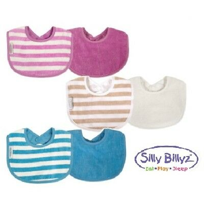 Silly Billyz 2 Pack Biblet Organic Cotton Baby Dribble Bib Velour & Waterproof