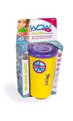 Wow Cup for Kids - NEW Innovative 360 Spill Free Drinking Cup