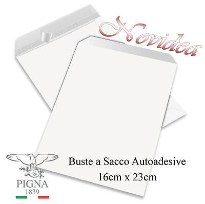 Buste a Sacco Commerciali 16x23 160x230 Bianche Pigna 80Gr Autoadesive