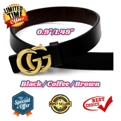 GGenuine Leather Thin Belts Fashion Womens Gucci Logo Pattern For Jeans 0.9 1.49