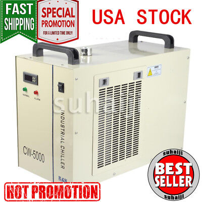 CW-5000 Industry Air Water Chiller CO2 Laser Engraving Cutting Machine 110V USA