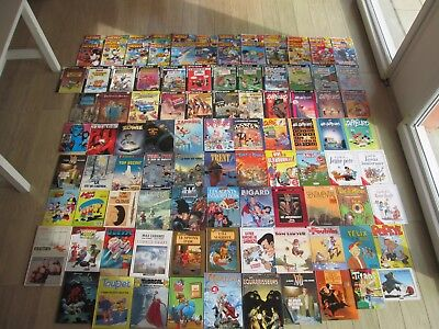 Lot De 74 Bd Divers Humour Aventure+25 Journal Mickey Tres Bon Etat Global Lot63