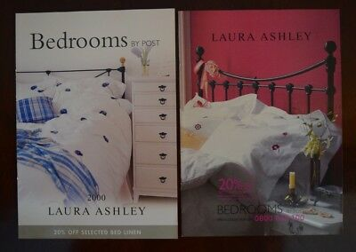 x2 Vintage Laura Ashley Bedroom Catalogues - 2000 & Spring 2001