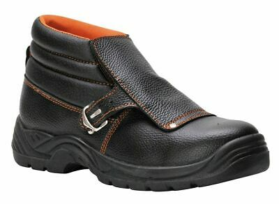 Welders Safety Work Boots Shoes Toe Cap Leather Flap Welding 5-13 Portwest FW07