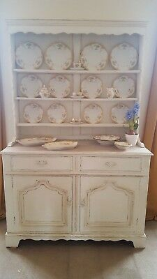 Solid oak carved French country style  hand painted dresser Annie Sloan