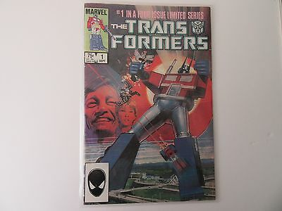 Transformers #1 Sept 1984 1st Transformers Appearance