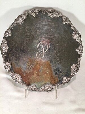 Silver Plate Serving Tray Grape Design Queen City Silver Footed Grape TRAY
