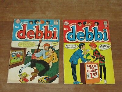 Date With Debbi #1 &  2 Silver Age 2 Comics Mid To Higher Grade #1 Looks Nicer!!
