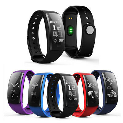 QS90 0.96inch OLED Heart Rate Blood Pressure Monitor Pedometer Message Show Smar
