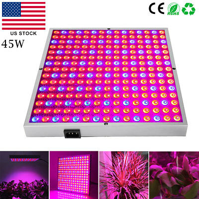 Clearance Sale 45W LED Grow Light Red Blue Spectrum Panel Hydroponics Plant