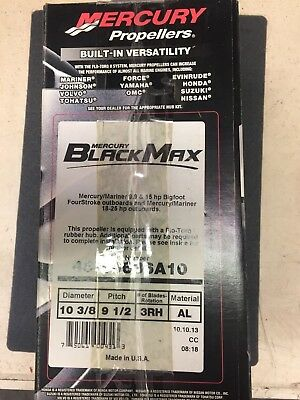 Mercury Prop Black Max 10 3/8R9 1/2  Part#48-19636A10