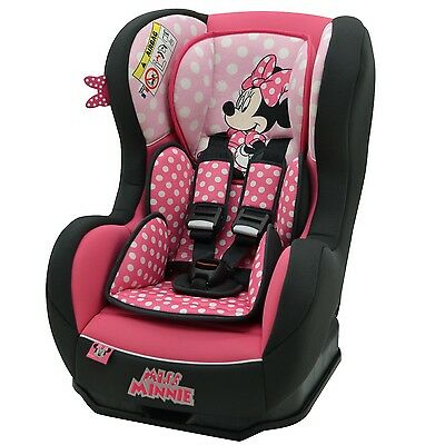 Disney Cosmo SP Luxe Baby Child Reclining Car Seat Minnie Mouse Pink 0 - 4 Years