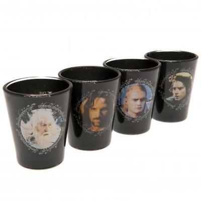 The Lord Of The Rings 4pk Premium Shot Glass Set (football club souvenirs memora