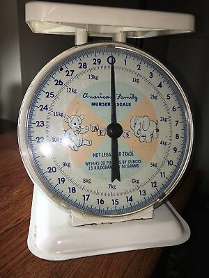 1960's Vintage Scale American Family Scale Nursery Baby Household 30lbs has tags