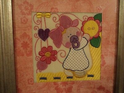 Embroidered baby girl frame 8 x 10 (#1)