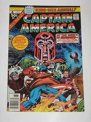 Captain America Annual 4 with Magneto Jack Kirby 1977  High Grade Marvel Comics