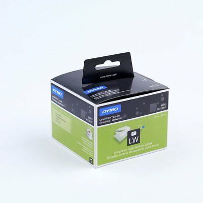 2 x Dymo SD99013 Labelwriter Address Labels Plastic CLEAR 36mm x 89mm 260 Labels
