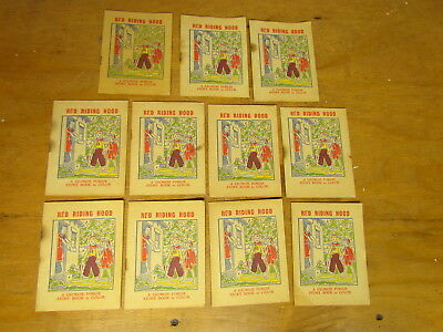 11 Red Riding Hood GEORGIE PORGIE Wheat Cereal Story Books - Council Bluffs Iowa