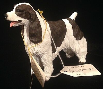 "Vintage NOS My Dog Figurine Liver Springer Spaniel Sculpture DGF22A 4"" Long"