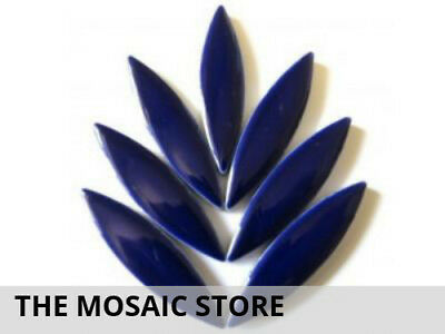 XL Indigo Ceramic Petals | Mosaic Tiles Supplies Art Craft