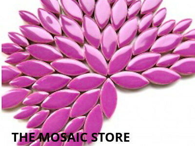 Purple Ceramic Petals - Mosaic Art & Craft Supplies Tiles