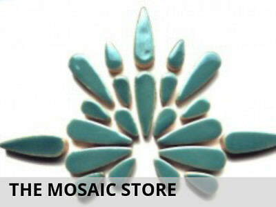 Teal Ceramic Teardrops | Mosaic Art Craft Tiles Supplies