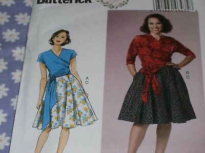 6-8-10-12-14 Butterick Pattern 6285 A5,Misses Top and Skirt,Sizes 6-14,