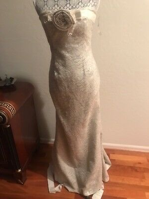 New Redux Charles Chang Lima Stunning Sterling Ivory Size 6 Wedding Gown