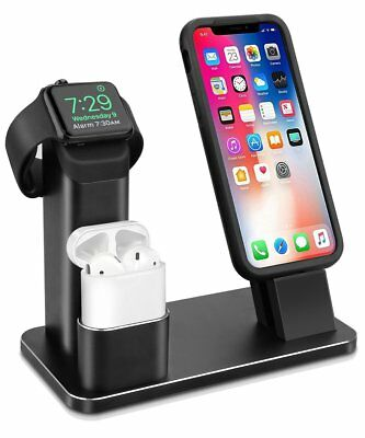 iPhone X/8/7 Aluminum Charging Stand Apple Watch AirPods Dock Station Charger