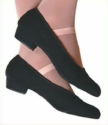 New black canvas character dance shoes canvas low heel, various sizes ON SALE!