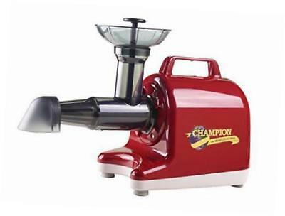 champion household juicer 4000 masticating juicer (red)