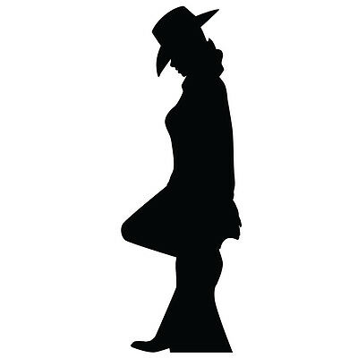 COWGIRL SILHOUETTE Lifesize CARDBOARD CUTOUT Standee Standup Poster Prop F/S