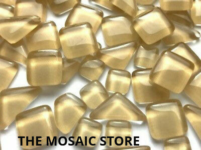 Cream Crystal Glass Melts - Mosaic Art & Craft Tiles Supplies