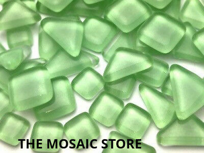Light Green Crystal Glass Melts - Mosaic Tiles Art Craft Supplies