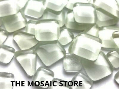 White Crystal Glass Melts - Mosaic Tiles Supplies Art Craft