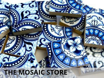 Patterned Handmade Ceramic Tiles - Mosaic Art Craft Tiles Supplies