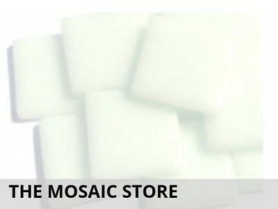 Broken White Opal Gloss Glass Tiles 2.5cm | Mosaic Supplier Tiles Art Craft