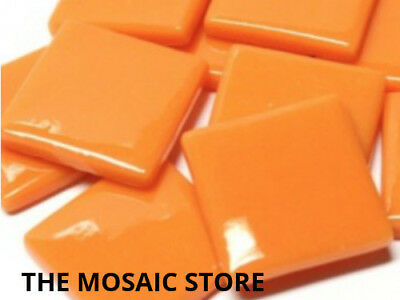Orange Gloss Glass Tiles 2.5cm - Mosaic Art Craft Tiles Supplies