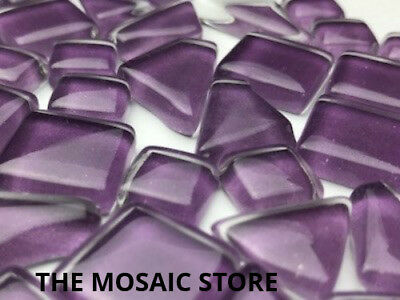 Grape Purple Crystal Glass Mosaic Tiles - Art Craft Supplies