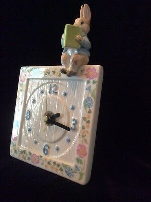 Beatrix Potter Peter Rabbit Clock by Schmid 1991 ~ NEW ~ FREE SHIPPING