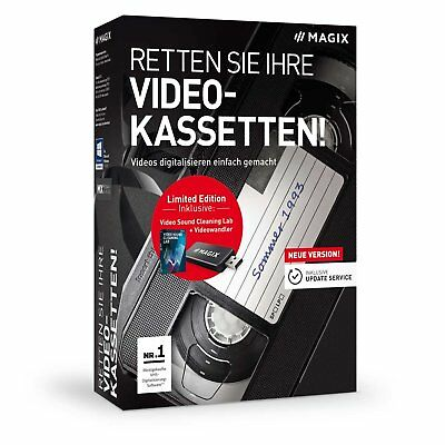 MAGIX Retten Sie Ihre Videokassetten 9 inkl. Video Sound Cleaning Lab -NEU & OVP