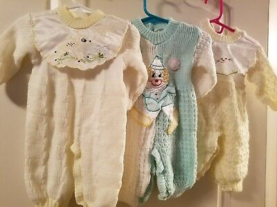 Vintage Baby sweater one piece lot 1980s