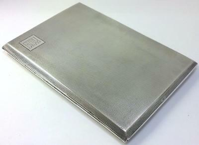 Vintage  hallmarked Silver Cigarette/Card Case/Wallet –1933 Mappin & Webb (185g)